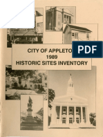 City of Appleton 1989 Historic Sites Inventory