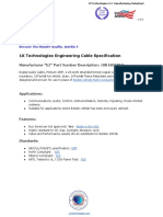 1XB1801BEQ - 1X Technologies Engineering Cable Specification English PDF