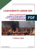 Informe CODESA - CAMPAMENTO GDEIM IZIK
