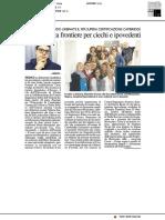 Lingue senza frontiere per ciechi e ipovedenti - Il Resto del Carlino del 18 febbraio 2018