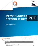 MemoQ Getting Started Guide 8 0 En
