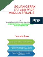 - Gangguan Gerak Akibat Lesi Pada Medula Spinalis