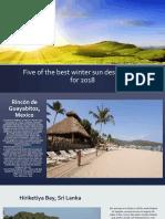 Five of the Best Winter Sun Destinations 2018