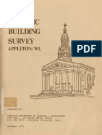 Historic Building Survey Appleton Wisconsin 1978
