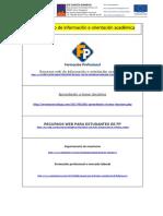 Recursos web de información e orientación académica