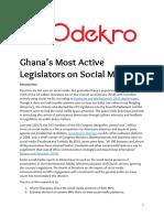 Ghana most active legislators on social media