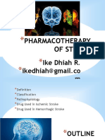 Pharmacotherapy of Stroke