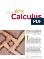 Humanizing Calculus