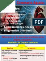 UNIDAD II - Sistema cardiovascular - Sindrome Coronario Agudo. Diagnostico enzimatico y electrocardiografico.Tratamiento.Complicaicones -UNICA-Fernanda Pineda Gea.pptx