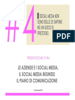 #4. Le Aziende e i Social Media - Il Piano Di Comunicazione