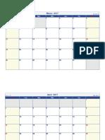 Calendario Marzo Abril