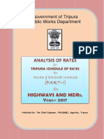 Rate Analysis_Highways-MDR_Part - I