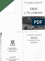Dios Tomo I Su existencia solucion tomista de las antinomias agnosticas do Padre Garrigou Lagrange .pdf