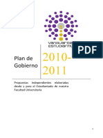 Plan de Gobierno Vanguardia Estudiantil 2010-2011