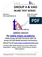 Tnpsc Group 4 Vao- Test 2 - General English-ques&Ans