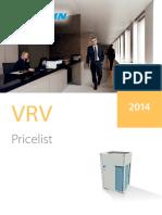 Daikin Cennik VRV 2014