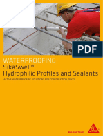 Waterproofing SikaSwell Hydrophillic Profiles and Sealants Eng