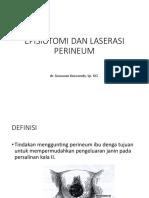 Episiotomi Dan Laserasi Perineum