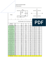 Standard Profile Inertia Calculator