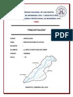 HIDROLÓGICA-precipitaciónes