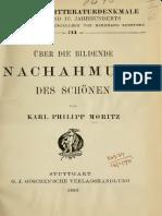 Auerbach, S. - Einleitung-Über Die Bildende Nachahmung Des Schönen
