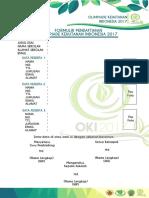 Formulir Pendaftaran OKI2017