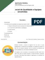 Livro - Referencial de Qualidade e Equipes Envolvidas