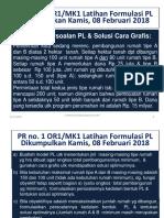 PR No. 1 - Or1-MK1 - Latihan Formulasi PL - Dikumpulkan Kamis 08 FEB 18 - Di-email Ke Mhs 03 FEB 18