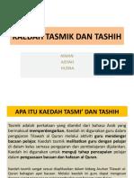 Kaedah Tasmik Dan Tashih