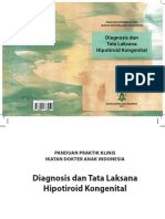 Panduan Praktik Klinis Diagnosis Dan Tata Laksana Hipotiroid Kongenital