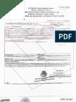 Certificado para la exportación de libre venta de la empresa DAI