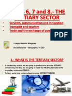 geografia sector terciario English