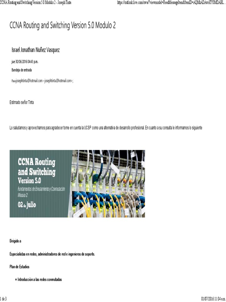 Ccna Routing And Switching Version 5