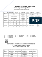 Time Table 2009 - 10