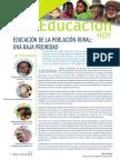 Educación de la población rural