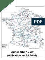 Carte des lignes UIC 7-9