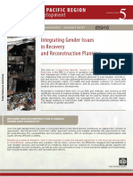 BM - Integrating Gender Issues in Recovery and Reconstruction Planning (2)
