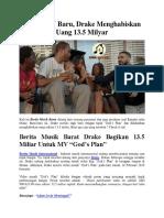 Garap MV Baru, Drake Menghabiskan Uang 13.5 Milyar