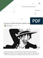Así Fueron Los Pilotos de Estos 5 Exitosos Manga - VIX