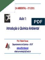 Aula 1 Introdução à Química Ambiental Out 2015