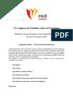 Segunda Circular VI Congreso de Estudios Sobre El Peronismo