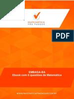 eBook Com 6 Questaµes de Matema Tica Para Embasa Banca Ibfc