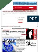 Israel Detrás Del Intento de Activación de Una Organización Terrorista en Cataluña — La Tribuna de Cartagena