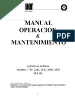 Autoclave de Mesa-1730, 2340, 2540, 3850, 3870 M - MK - Manual de Uso- Rev 2- May-06
