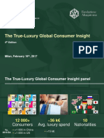 BCG Altagamma True-Luxury Global Cons Insight 2017 - Presentata