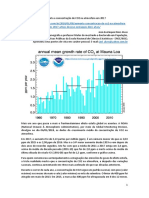 Aumenta a concentração de CO2 na atmosfera em 2017