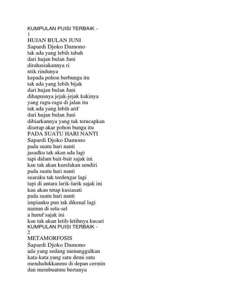 Kumpulan Puisi Kompas Pdf