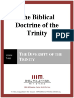 The Biblical Doctrine of the Trinity – Lesson 3 – Forum Manuscript