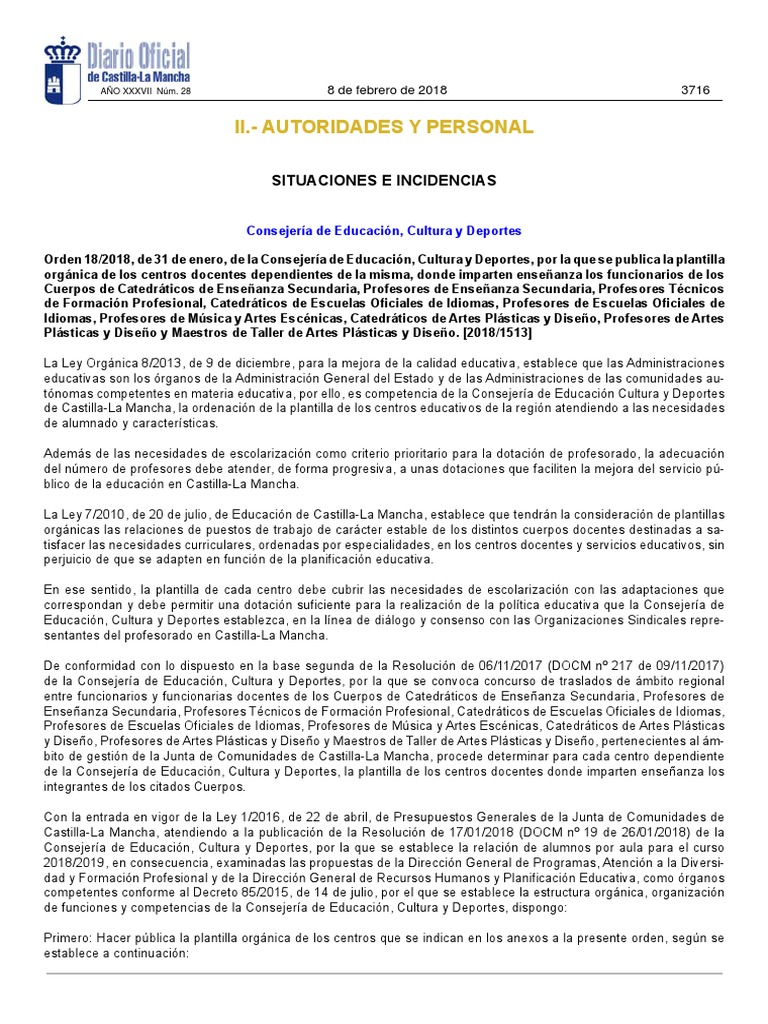 18-19 Orden Plantillas JCCM