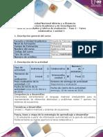 Guía de Actividades y Rúbrica de Evaluación - Fase 2 - Tarea Colaborativa 1